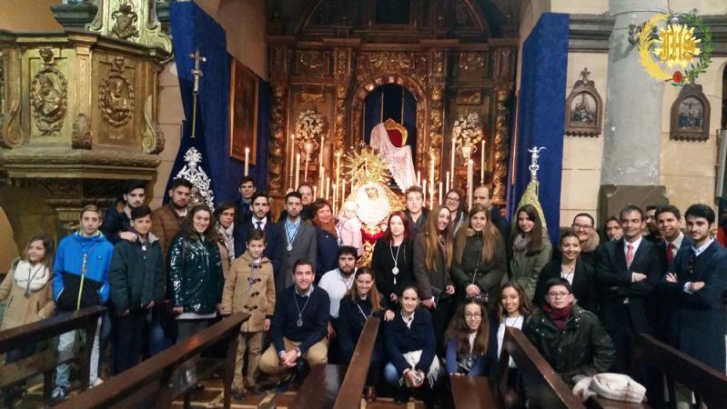 Cofradía Borriquilla Granada: CELEBRACIÓN DE LOS CULTOS MENSUALES Y FESTIVIDAD DE LA CANDELARIA