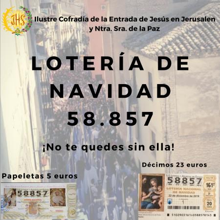 Cofradía Borriquilla Granada: YA PUEDES ADQUIRIR LA LOTERÍA DE NAVIDAD DE LA BORRIQUILLA
