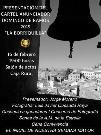 Cofradía Borriquilla Granada: EL PRÓXIMO SÁBADO SE PRESENTA EL CARTEL ANUNCIADOR DE NUESTRA ESTACIÓN DE PENITENCIA DEL DOMINGO DE RAMOS 2019
