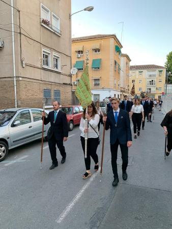 Cofradía Borriquilla Granada: NUESTRO GRUPO JOVEN PARTICIPA EN EL I VÍA LUCIS DE LA JUVENTUD COFRADE