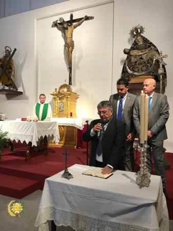 Cofradía Borriquilla Granada: JURA DE LOS CARGOS  DE LA JUNTA DE GOBIERNO Y POSTERIOR CONVIVENCIA