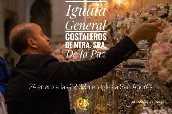Cofradía Borriquilla Granada: IGUALÁ GENERAL COSTALEROS NTRA. SRA. DE LA PAZ