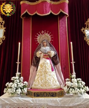 Cofradía Borriquilla Granada: NTRA. SRA. DE LA PAZ EN TIEMPO DE PASCUA Y ORDINARIO DE LUTO POR LAS VÍCTIMAS DE LA PANDEMIA COVID-19