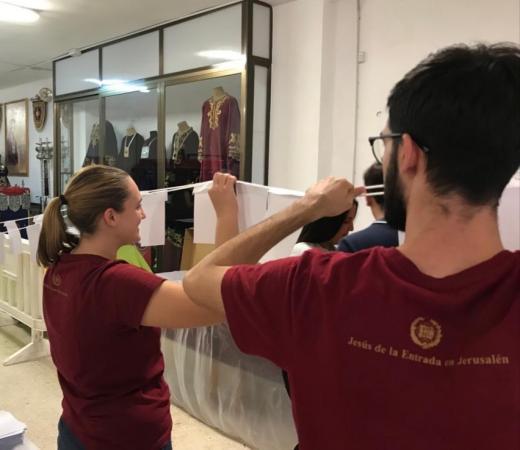 Cofradía Borriquilla Granada: PARTICIPACIÓN DE NUESTRA COFRADÍA EN LA CORONACIÓN CANÓNICA PONTIFICIA DE NTRA. SRA. DE LA ESPERANZA