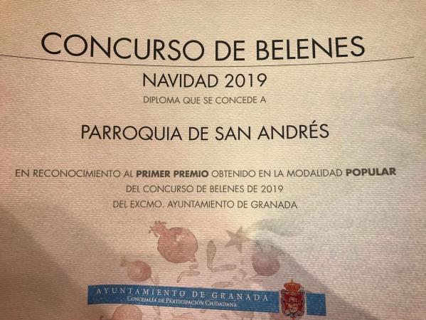 Cofradía Borriquilla Granada: ¡FELIZ AÑO 2020! ¿HAS VISITADO NUESTROS BELENES? HAN SIDO PRIMER PREMIO LOS DOS EN SUS MODALIDADES.