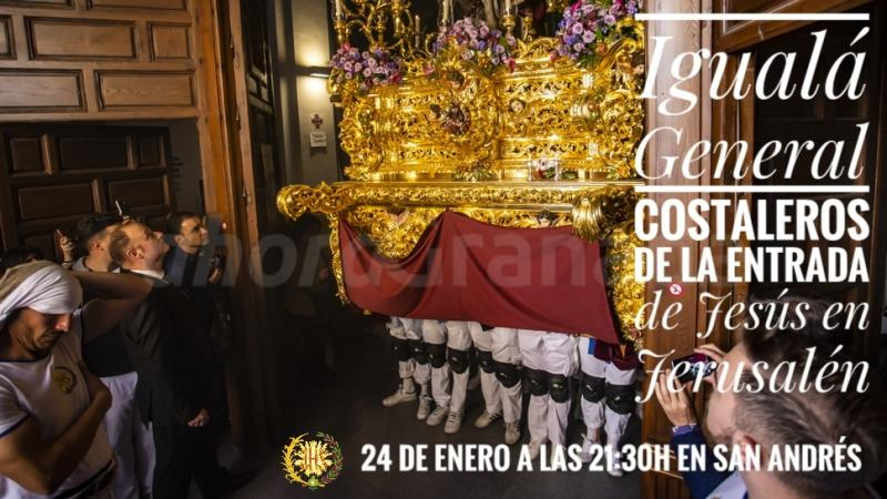 Cofradía Borriquilla Granada: IGUALÁ GENERAL COSTALEROS DE LA ENTRADA DE JESÚS EN JERUSALÉN