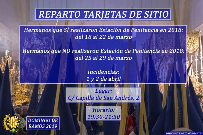 Cofradía Borriquilla Granada: REPARTO DE HÁBITOS Y TARJETAS DE SITIO PARA LA ESTACIÓN DE PENITENCIA DEL 2019
