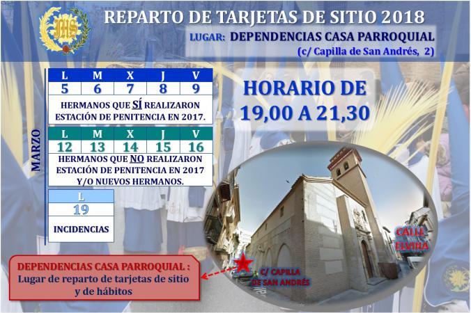 Cofradía Borriquilla Granada: COMIENZO DE REPARTO DE TARJETAS DE SITIO Y HÁBITOS PARA AQUELLOS QUE REALIZARON ESTACIÓN DE PENITENCIA EN 2017