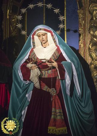 Cofradía Borriquilla Granada: NUESTRA SEÑORA DE LA PAZ ATAVIADA DE HEBREA. CUARESMA 2016