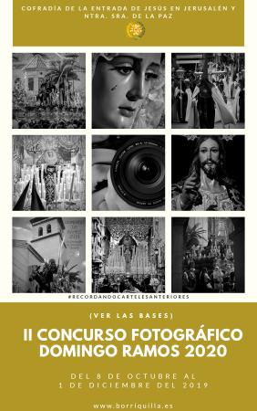 Cofradía Borriquilla Granada: FALLO DEL II CONCURSO FOTOGRÁFICO PARA EL CARTEL DE LA COFRADÍA DE ENTRADA DE JESÚS EN JERUSALEN Y NTRA. SRA. DE LA PAZ 2020