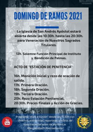 Cofradía Borriquilla Granada: DOMINGO DE RAMOS 2021