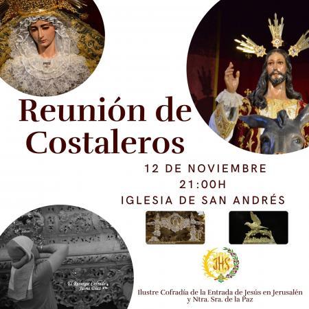 Cofradía Borriquilla Granada: REUNIÓN DE COSTALEROS