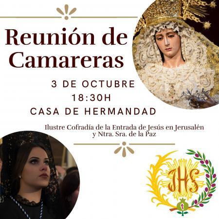 Cofradía Borriquilla Granada: REUNIÓN CAMARERAS DE NTRA. SRA. DE LA PAZ