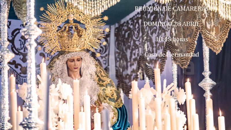 Cofradía Borriquilla Granada: REUNIÓN DE CAMARERAS 28 ABRIL