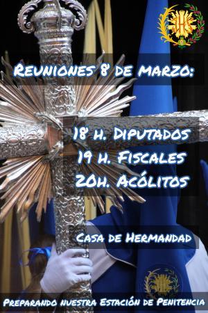 Cofradía Borriquilla Granada: REUNIONES DE DIPUTADOS, FISCALES Y ACÓLITOS DE PREPARACIÓN SALIDA DOMINGO DE RAMOS 2020